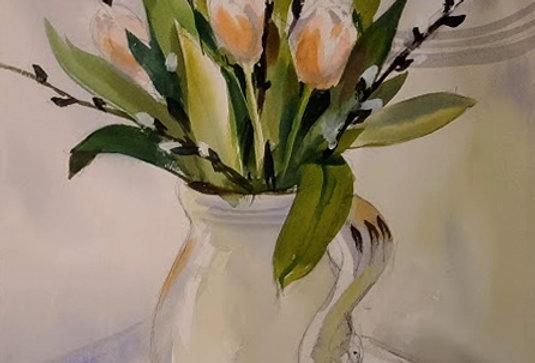 """Original Watercolor Demo """"Happy Easter"""""""