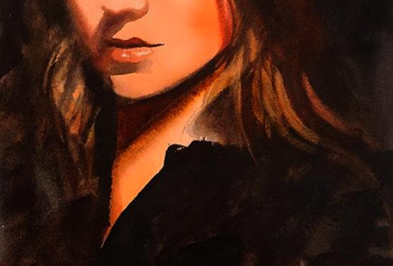 """Original Watercolor Demo """"Beauty"""""""