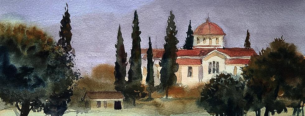 "Original Watercolor Demo ""Home in France"""