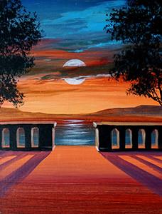 37 sunset on the verandah