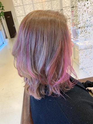 ピンクインナーカラー