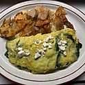 Spinach & Feta Cheese Omelet