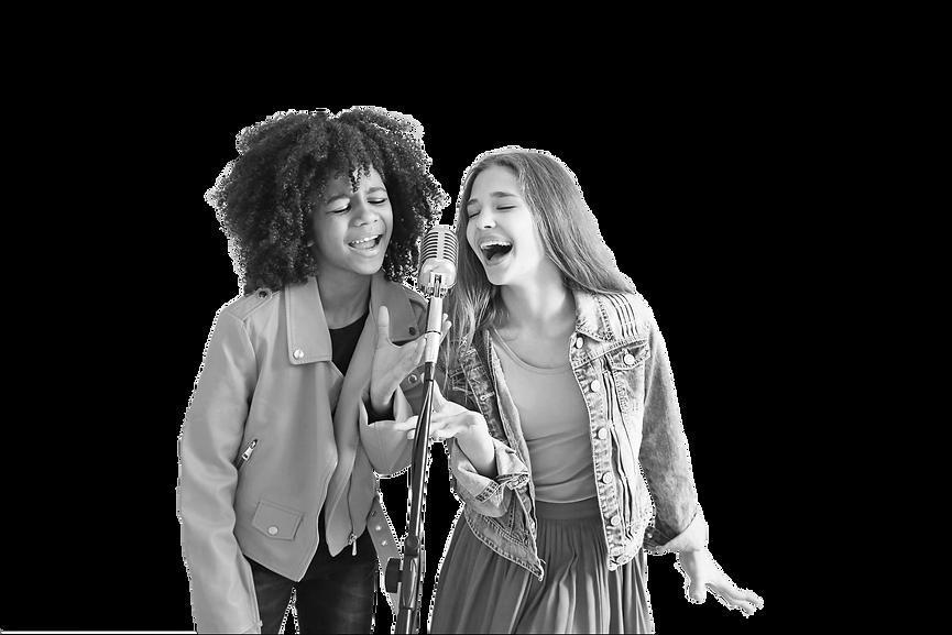 girls singing black and white.png