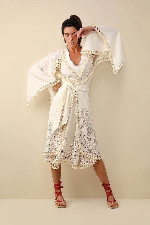 Kimono Midi Carimbo