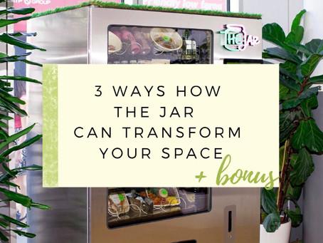 3 Ways How The Jar Healthy Vending Can Transform Any Space + Bonus!