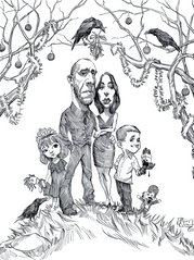 Nykoluk Family Christmas Card Caricature
