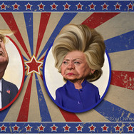 Hillary and Donald Showdown 2016