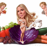 Gwyneth Paltrow with Apple and Moses