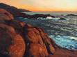 Pt Lobos Rocks at Sunset