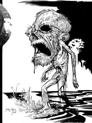 Zombie Caricature Tad