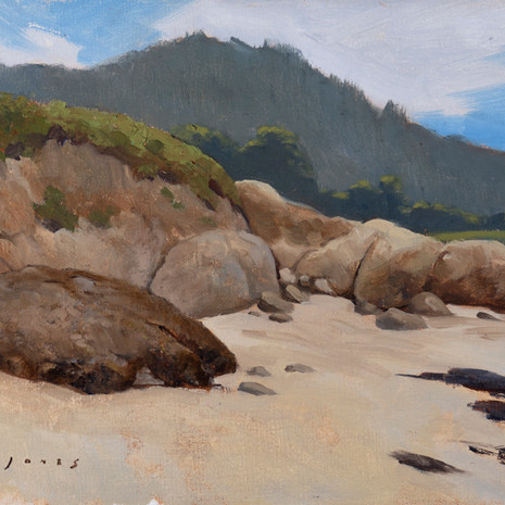 Carmel Cove with Point Lobos - 9 x 12""