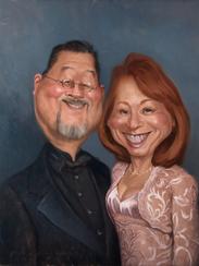 D and G Oil Portrait