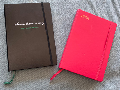 een notitieboekje voor het slapengaan