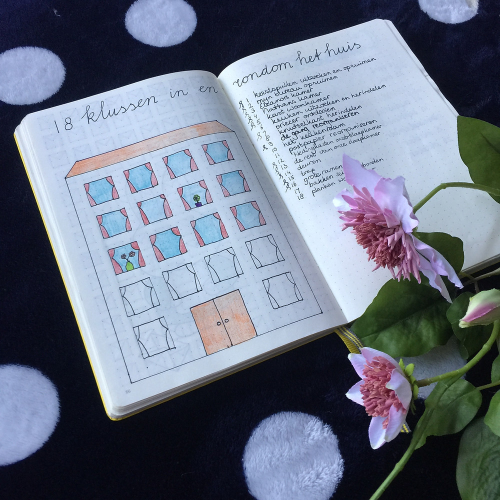 chores in my bullet journal