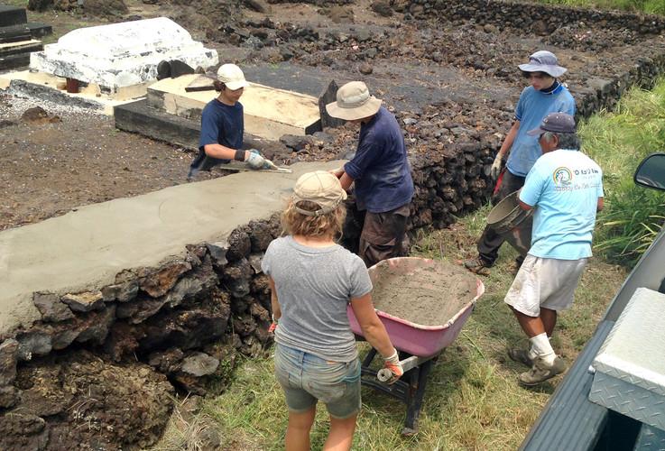 Punaluʻu Cemetery Wall - OKK Capped