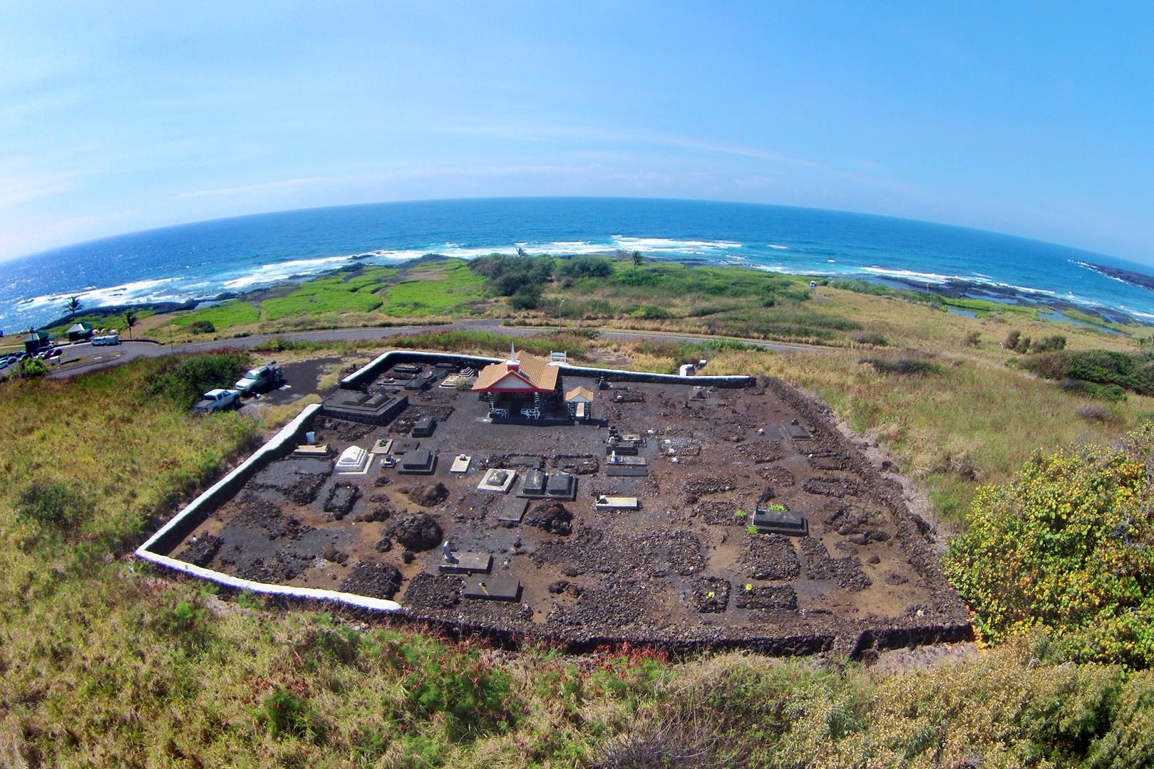 Punalu'u Cemetery - Aerial