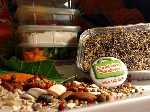 Tortas funcionais e pão de inhame na Lancheira Saudável?