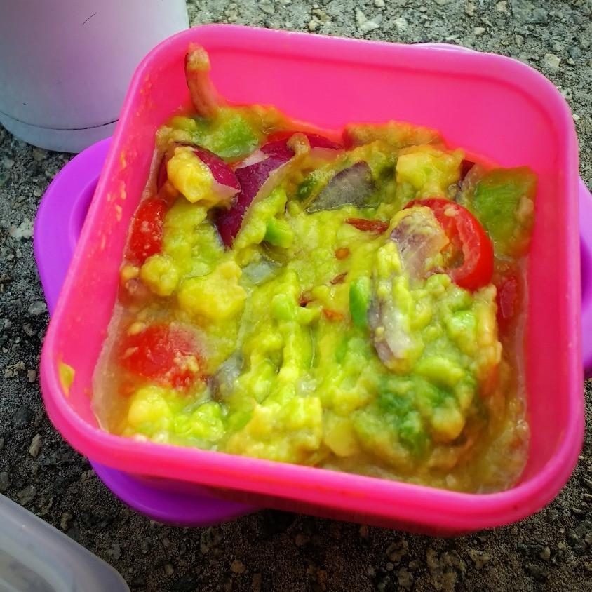 Guacamole, alimentação saudável fora de casa