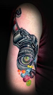 dustin nelson / camera tattoo / tattoo shop near me / tattoo shop in grand junction