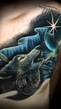 dustin nelson / wolf and moon tattoo / tattoo shop near me / tattoo shop in grand junction