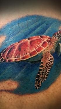 dustin nelson / sea turtle tattoo / tattoo shop near me / tattoo shop in grand junction