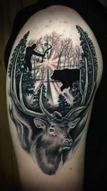 dustin nelson / bear and elk tattoo / tattoo shop near me / tattoo shop in grand junction