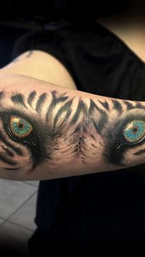 dustin nelson / tiger eyes tattoo / tattoo shop near me / tattoo shop in grand junction