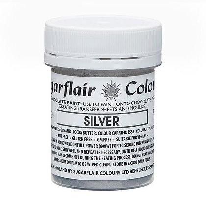 Sugarflair Schokoladenfarbe Malfarbe Silber 35g
