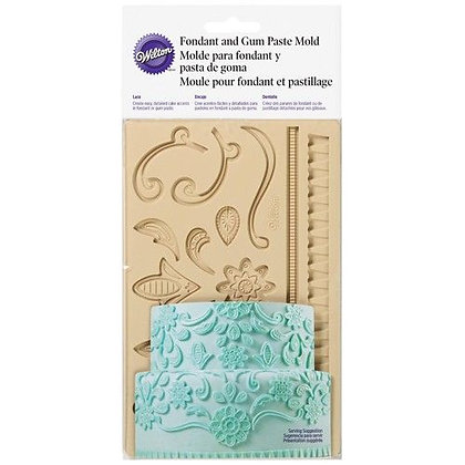 Wilton Silikonform -Fondant & Gum Paste Mold Lace-