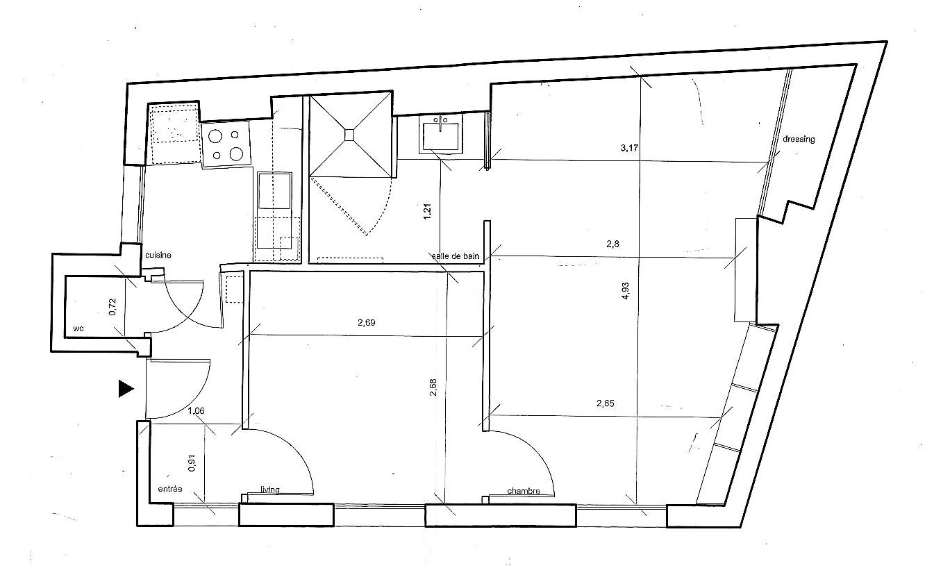 Vente 2 pièces 33 m2 avenue de Saxe