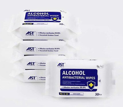alcohol antibacterial wipes/FDA/CE/alcohol 75%