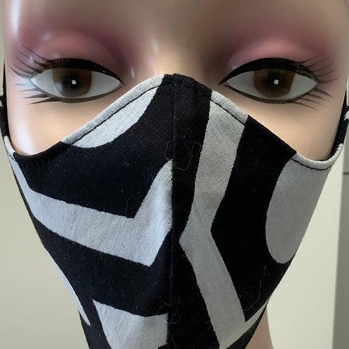 "Máscara Anatómica - ""Preto & Branco"""