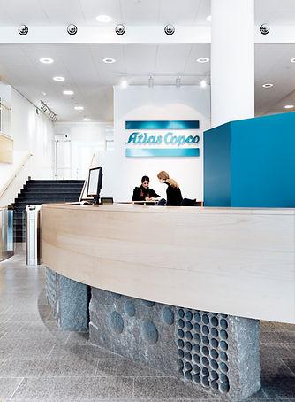 Grötlingbo Möbelfabrik bygger Atlas Copcos huvudkontor