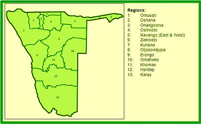 Namibia Bass Angling Association Membership Form Regions