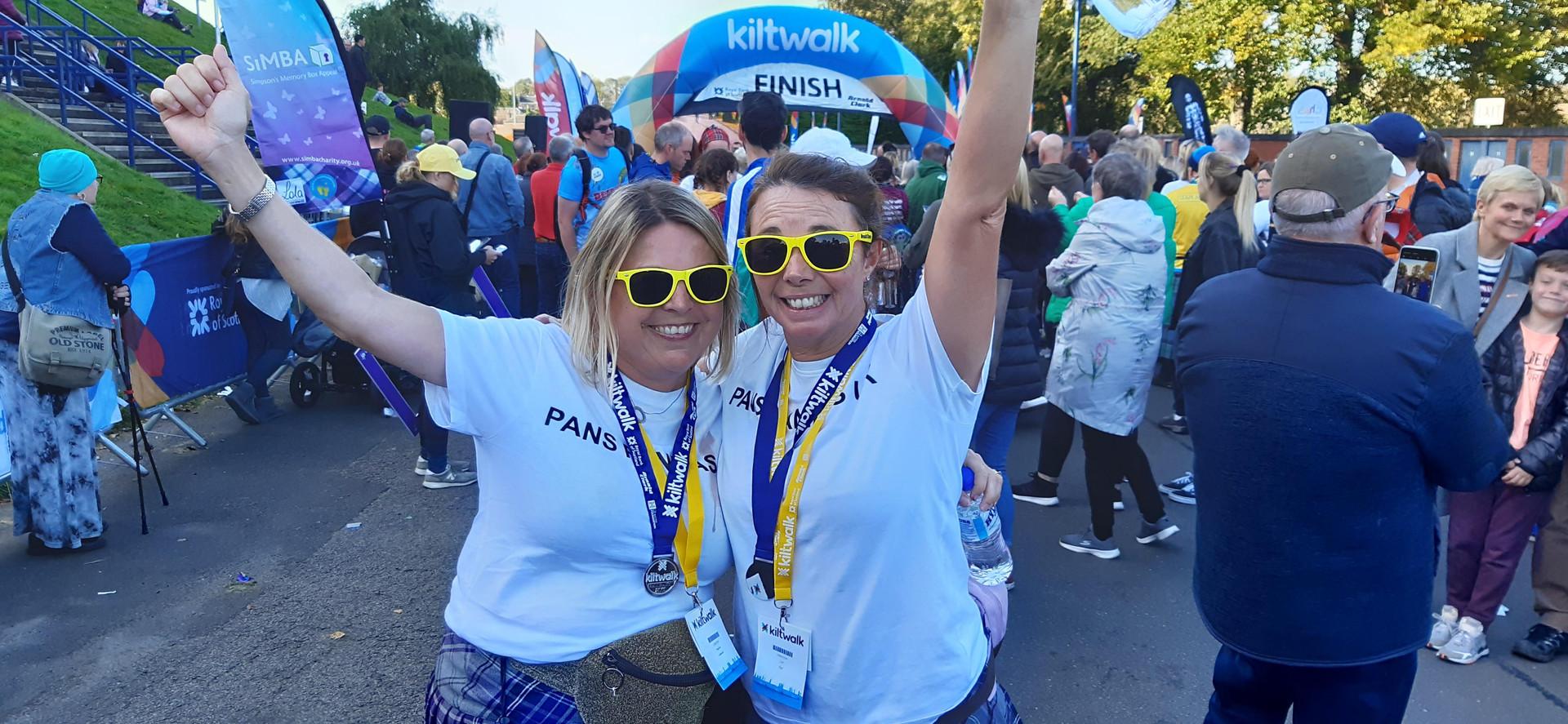 Lyn & Pauline Edinburgh Kiltwalk
