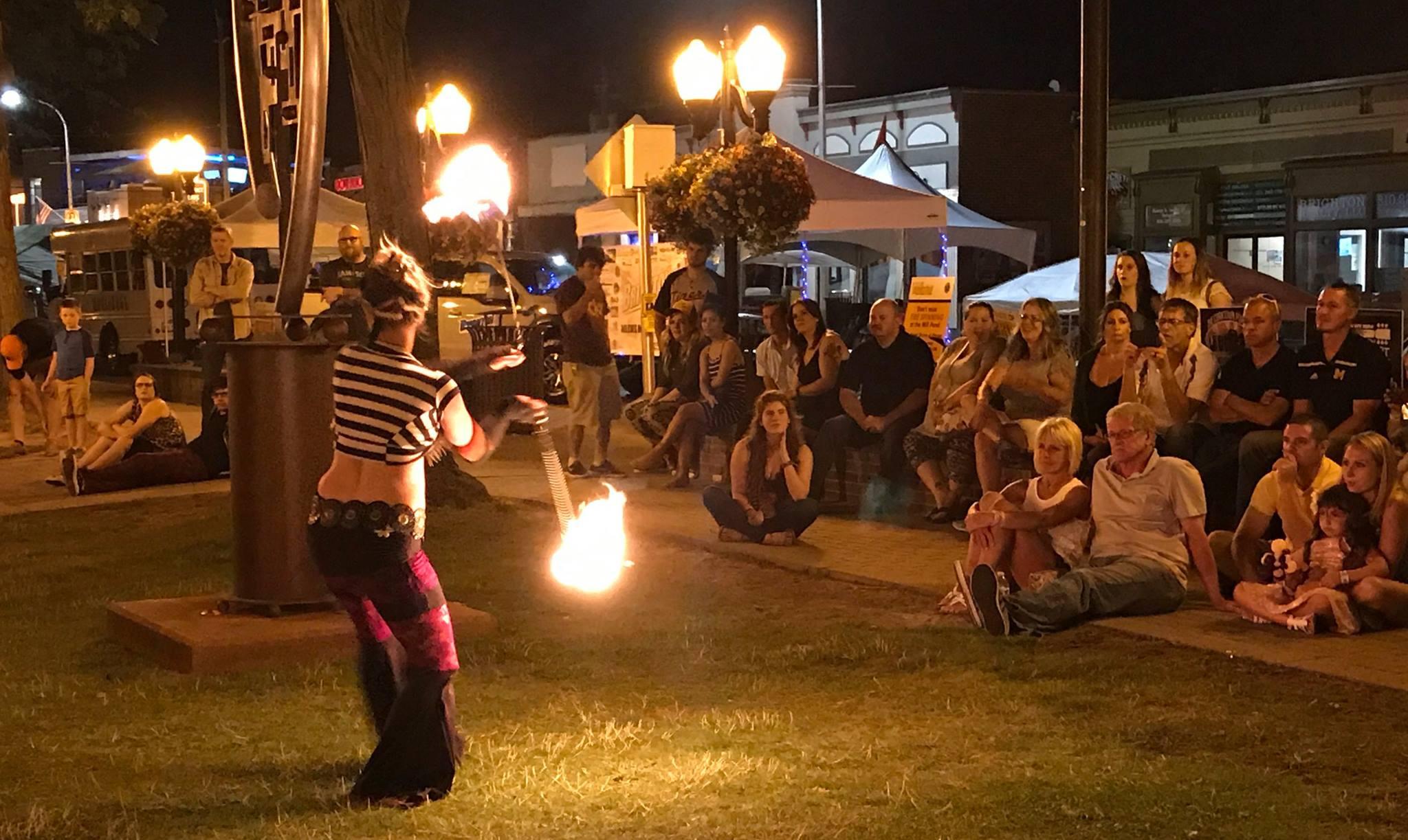 2017 A Taste of Brighton Fire crowd
