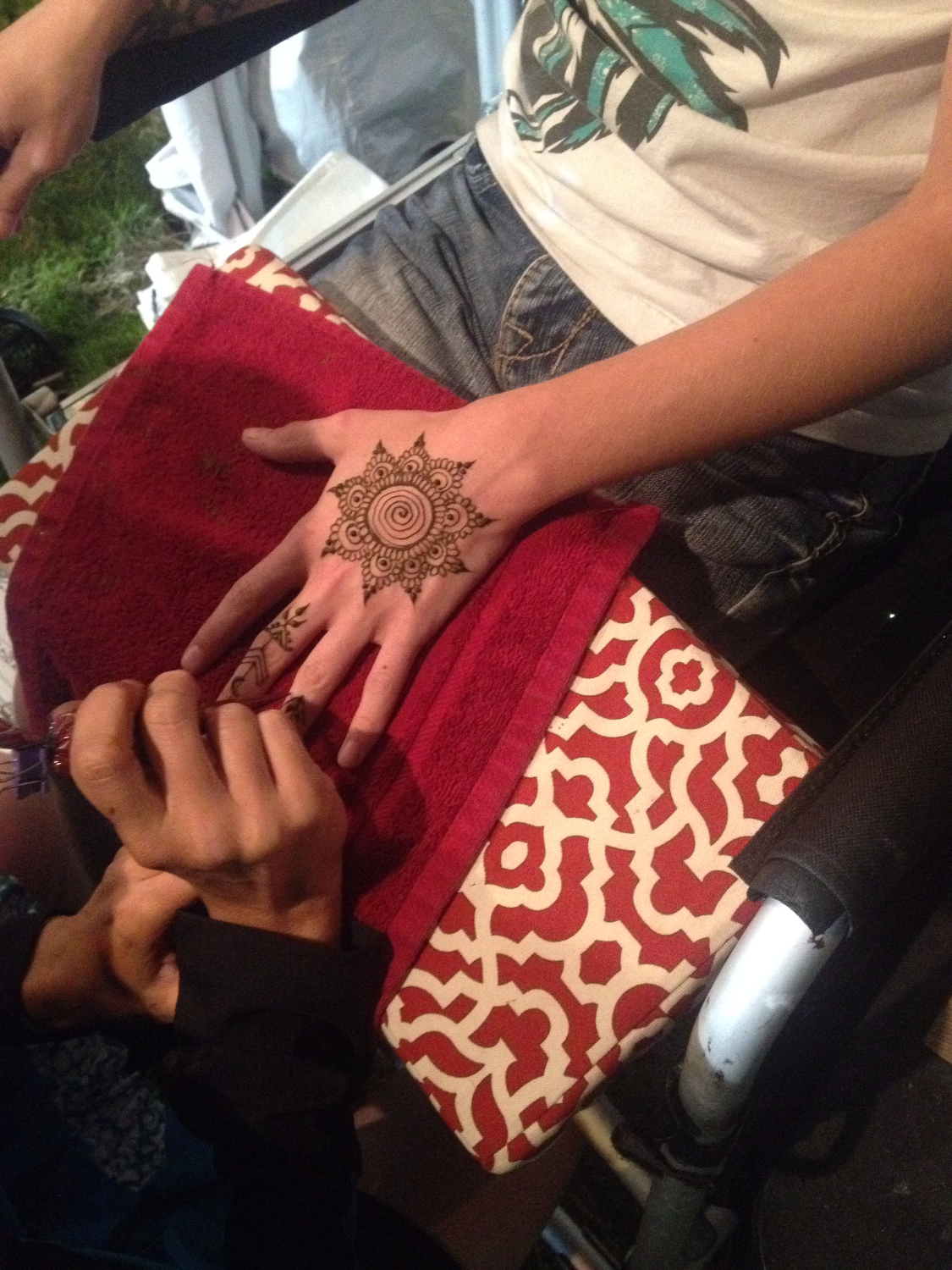 Fantastic Face Painting doing Henna