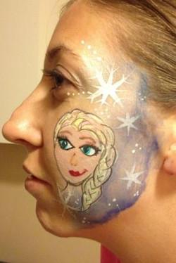 Frozen Elsa Portrait Face Painting