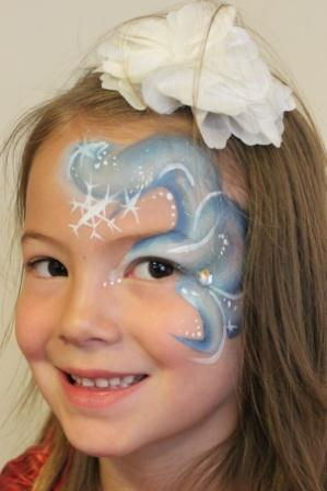 Frozen Face Painting Swirl