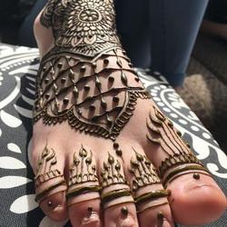 Foot henna_._._