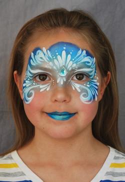 Frozen Elsa face paint