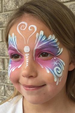 Teardrop White Butterfly