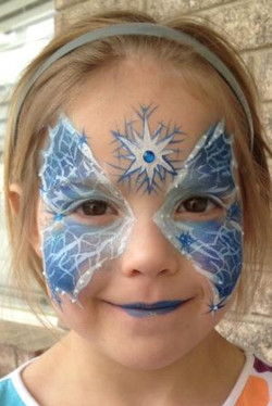 Frozen Butterfly Face Painting