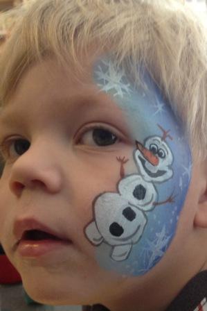 Frozen Party Olaf Face Paint