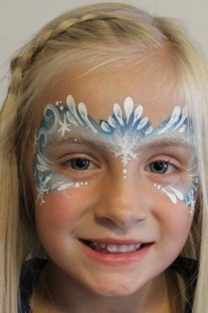 Frozen Teardrop Mask Face Painting
