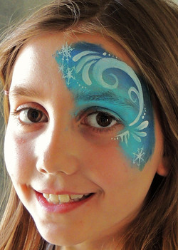 Frozen Eye Face Painting Party