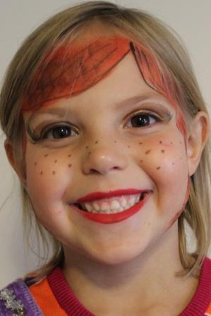 Frozen Anna Face Paint