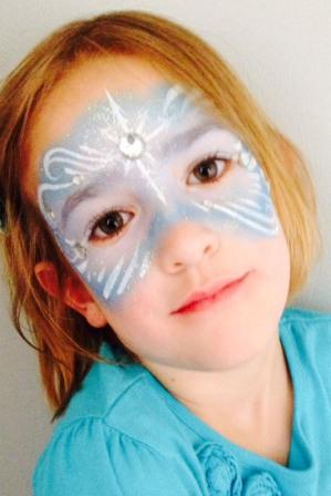 Frozen Face Painting Mask