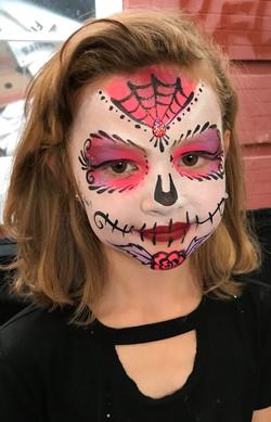 Sweet sugar skull face painting