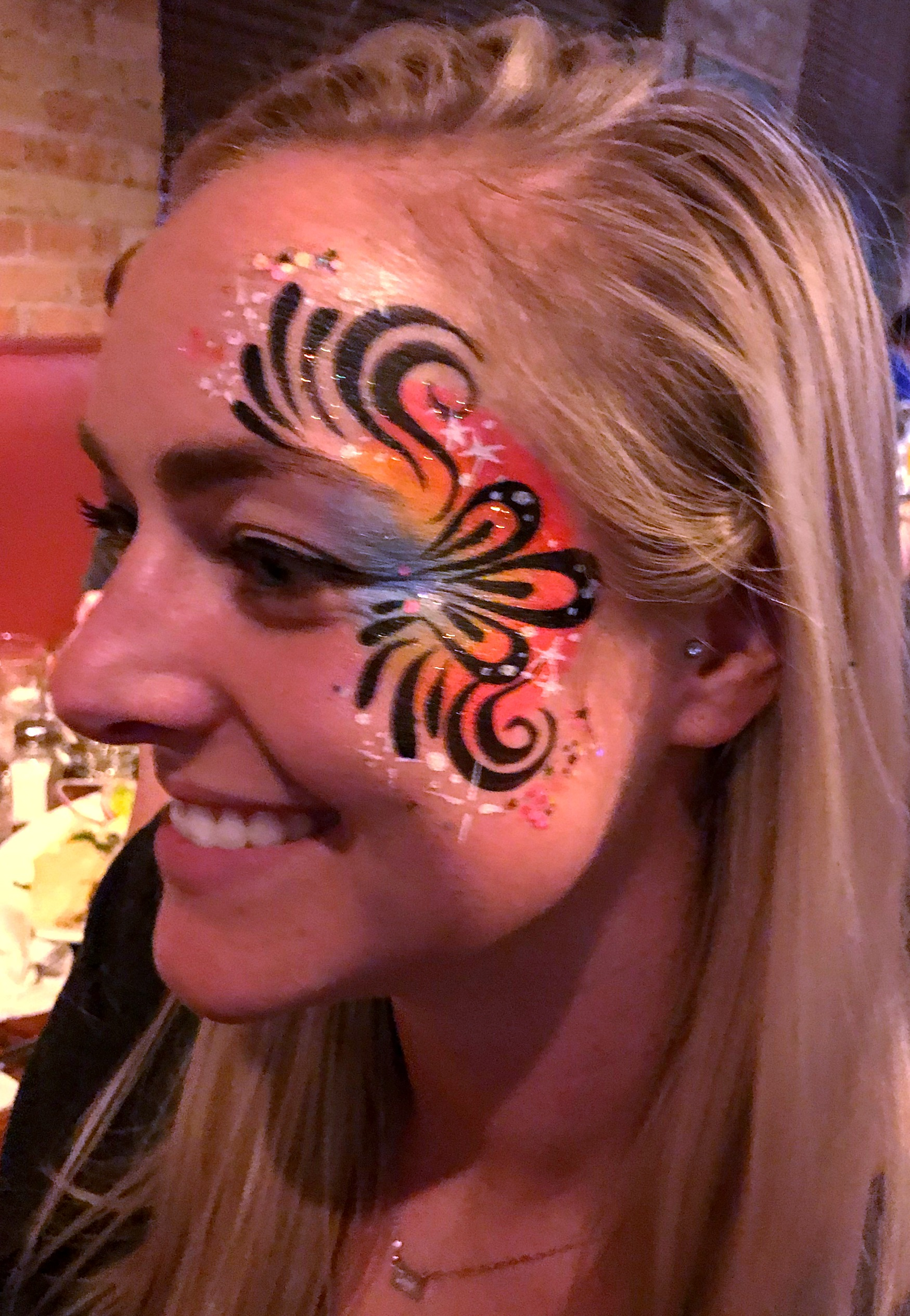 Adult face painting eye design